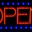 Royalty-Free Stock Photo: LED open sign
