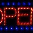Stock Photo: LED open sign