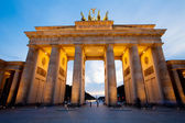 Brandenburg Gate (Brandenburger Tor) in Berlin night shot — Stock Photo