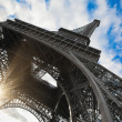 Eiffel tower in Paris wide angle shot — Stock Photo #6695099