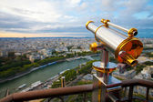 View to Paris and Seine from Effeil tower — Stock Photo