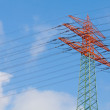 High voltage electricity power tower — Stock Photo
