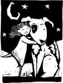 Huggy Dog — Stock Vector