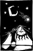 Curtain of Night #1 — Stok Vektör