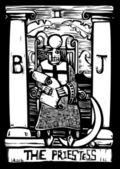 Priestess Tarot Card — Stock Vector