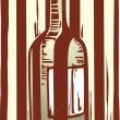 Wind bottle behind bars — Imagen vectorial