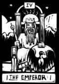 Tarot Card Emperor — Stock Vector