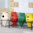 Colorful Recycle Bins - Stok fotoraf