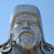 Statue of Genghis Khan in the desert, near Ulaanbaatar, the capital of Mong - Stock Photo