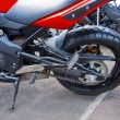 Part of a sports bike — Stock Photo #6289217