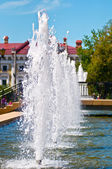 Fountain in city park — Stock fotografie