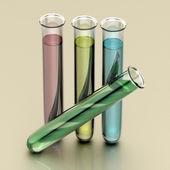 Four test tubes — Stock Photo