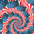 Patriotic grunge swirl with stars and stripes — Stock Photo