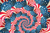 Vatansever grunge girdap ile yıldızlar ve çizgiler — Stok fotoğraf