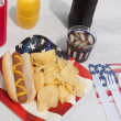 4th Of July Hotdog Meal — Stock Photo #5913696