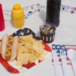 4th Of July Hotdog Meal — Stock Photo #5913703