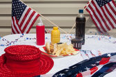 4th Of July Hotdog Meal — Stock fotografie