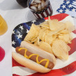 4th Of July Hotdog Meal — Stock Photo #5983719