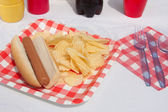Summertime Hotdog — Stock Photo