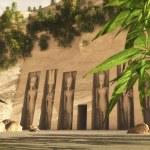 Virtual concept of Nefartari Temple — Stock Photo #6488630