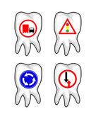 Road Signs on Teeth — Stock Vector