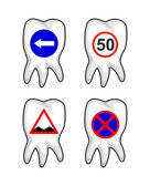 Road Signs on Teeth — Stock Vector