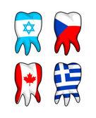 Flag Teeth — Stock Vector