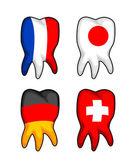 Bandeira de dentes — Vetorial Stock