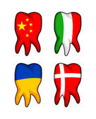 Flag Teeth — Vector de stock