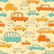 Cute Cars Pattern — Stock Vector