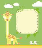 Frame with a giraffe — Stock Vector