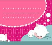 Uyuyan kedicik — Stok Vektör