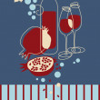 Red Wine Banner - Stock Vector