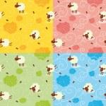 Sheep Pattern — Stock Vector