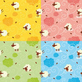 Sheep Pattern — Stock Vector