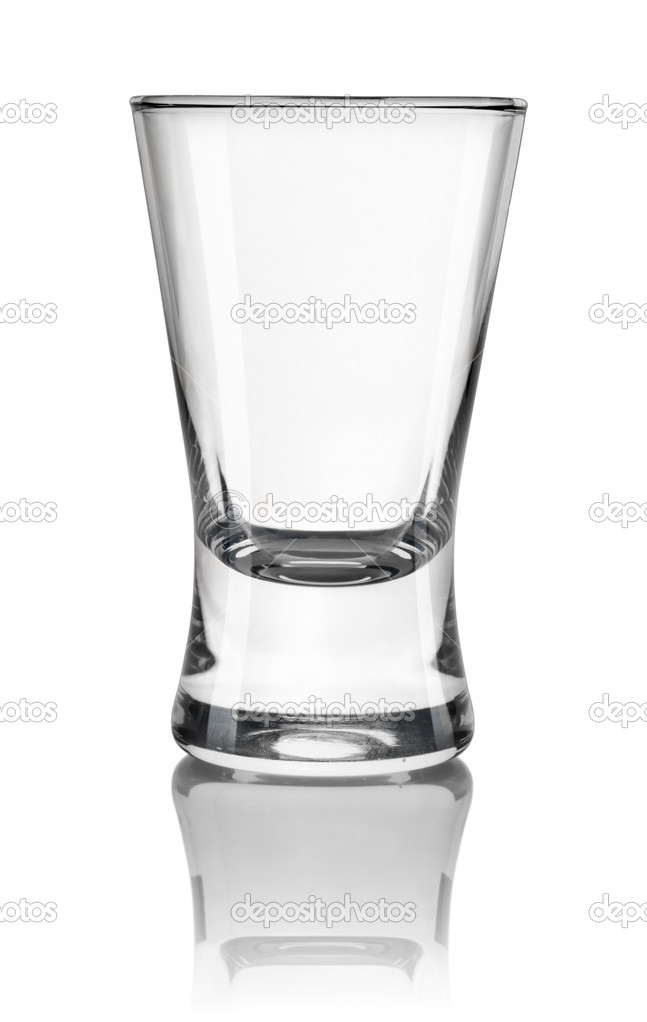 Glass of vodka isolated on a white background. Path — Stock Photo #5675354