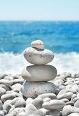 Stack pebbles — Stock Photo