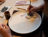 Pottery painting — Stock Photo