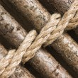 Strips of wood bound with rope — Stockfoto #5464163