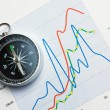 Stock Photo: Navigation in economics and finance