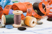 Sewing supplies — Stock Photo