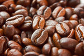 Texture of the roasted coffee beans — Stock Photo