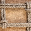 Stock Photo: Frame made of old rope