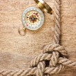 Compass with a rope - Foto de Stock