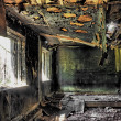 Stockfoto: House after fire in hdr