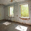 Stock Photo: Destroyed abandoned house in hdr