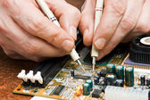 Computer repair — Stock Photo