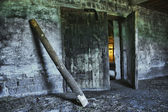 Dilapidated old agricultural building — Stock Photo