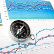 Navigation in economics and finance — Stock Photo #5849025