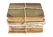 An old book with a crumpled sheet — Stock Photo